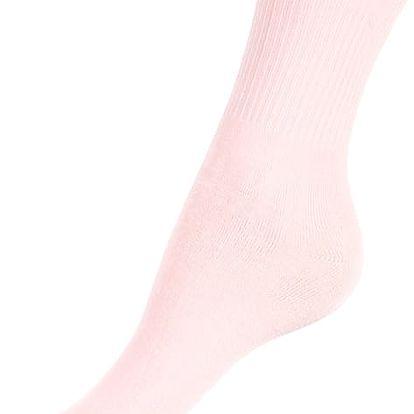 Jednobarevné dámské ponožky bambus světle růžová
