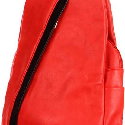 Koženkový batoh/kabelka 3V1 červená