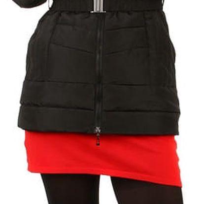 Zimní bunda s kožešinou na kapuci i pro plnoštíhlé