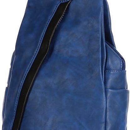 Koženkový batoh/kabelka 3V1 modrá