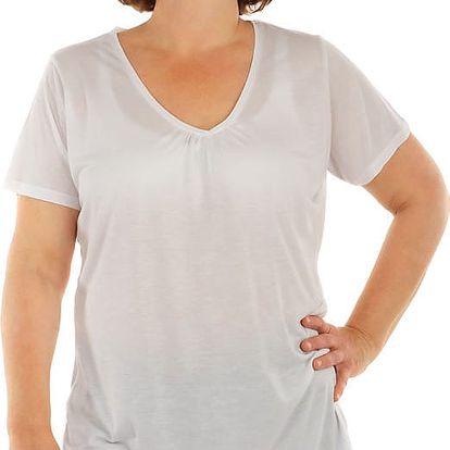 Jednobarevné tričko nadměrná velikost bílá