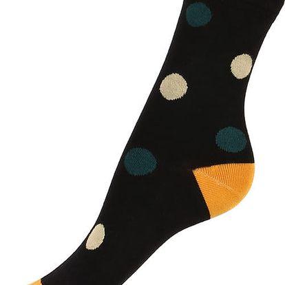 Bambusové ponožky s puntíky černá