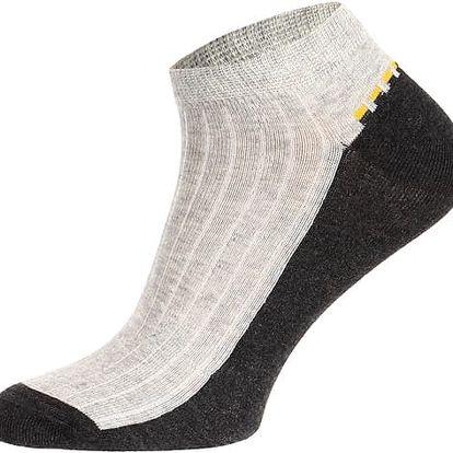 Pánské kotníkové ponožky černá/modrá