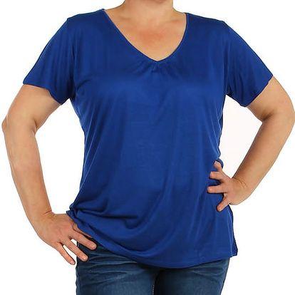 Jednobarevné tričko - velké velikosti modrá