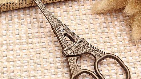 Vintage nůžky s motivem Eiffelovy věže - dodání do 2 dnů
