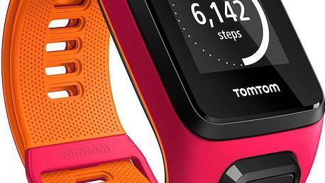 TOMTOM Runner 3 Cardio + Music (S), růžová/oranžová - 1RKM.001.02
