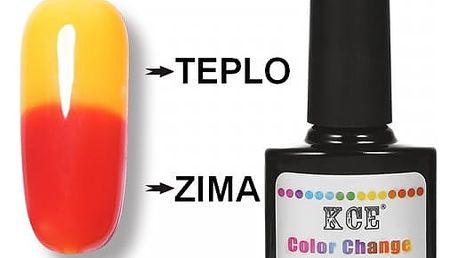 UV gel lak na nehty měnící barvu v závislosti na teplotě