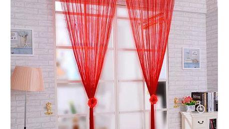 Provázková záclona v 9 atraktivních barvách