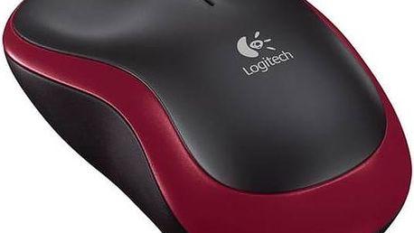 Myš Logitech Wireless Mouse M185 (910-002240) červená + Doprava zdarma