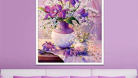 Sada pro výrobu vlastního obrazu s motivem květiny - 30 x 40 cm