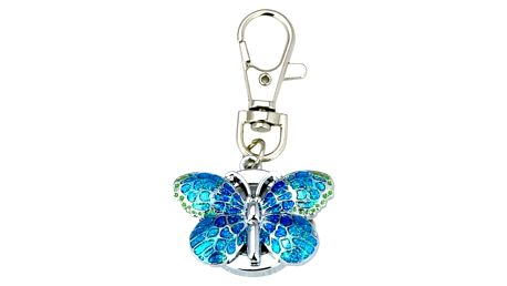 Motýl - klíčenka s hodinkami
