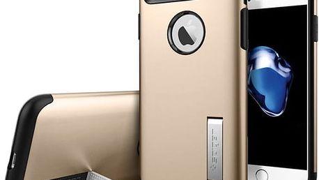 Pouzdro Spigen Slim Armor iPhone 7 champagne zlaté Zlatá