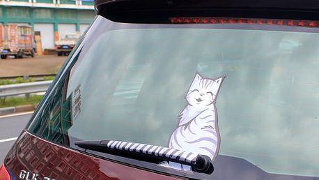 Samolepka kočky na zadní stěrač auta - 2 varianty