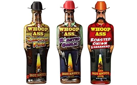 Skylark Trading Pálivé omáčky Whoop Ass Hot Sauce set 3 ks x 177 ml