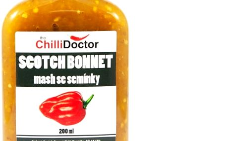 Chilli Doctor Chilli mash Scotch Bonnet se semínky 200 ml