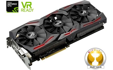 ASUS GeForce ROG STRIX GAMING GTX1080 OC DirectCU III, 8GB GDDR5X - 90YV09M0-M0NM00