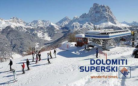 5denní Civetta se skipasem! Zájezd s ubytováním Hotel Orso Grigio***, polopenze. Dolomiti Superski, Itálie, Alpy