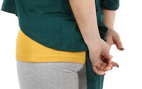 Oversized tričko v kombinaci s tílkem - i pro plnoštíhlé zelená