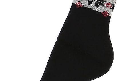 Thermo ponožky se vzorem černá