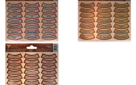 Nálepky na kořenky - 21 kusů - dodání do 2 dnů