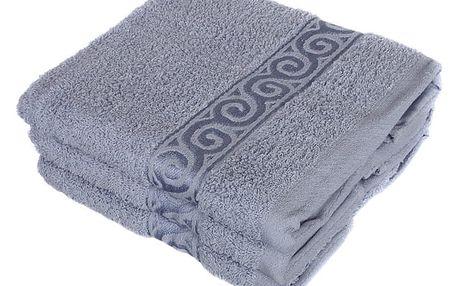 Froté ručník se vzorem Celtic šedá