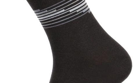 Pánské ponožky s proužkou tmavě šedá