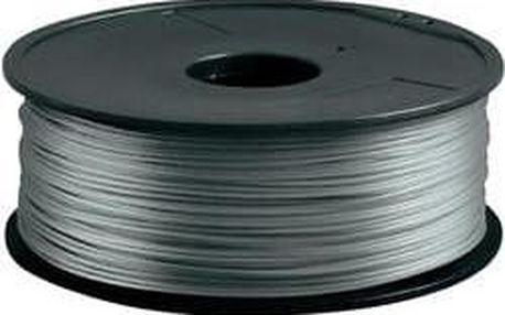 Náplň pro 3D tiskárnu, Renkforce PLA175S1, PLA, 1,75 mm, 1 kg, stříbrná