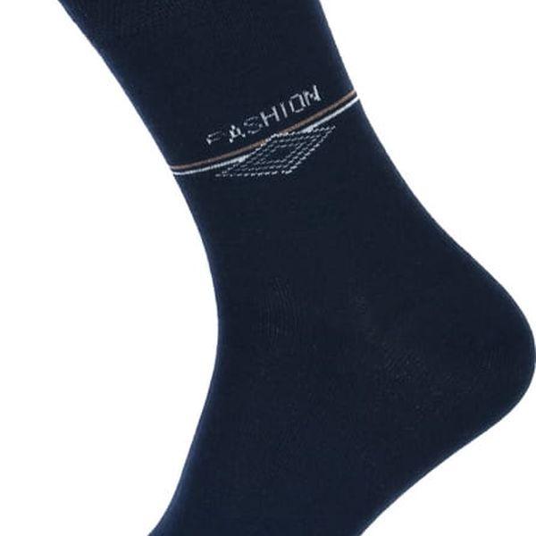 Pánské ponožky fashion tmavě modrá2