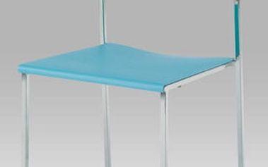 Jídelní židle CT-222 BLUE - chrom/plast modrý