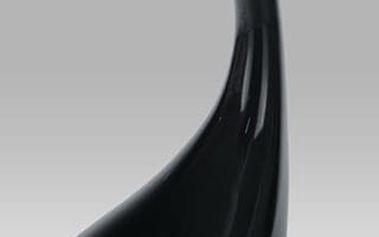 Odkládací stolek ACT-706 BK průměr 44,5 cm - sklo/černý plast