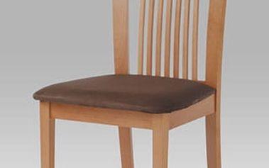 Jídelní židle BC-3940 barva buk, potah hnědý
