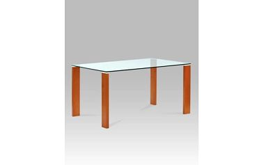Jídelní stůl BT-6750 TR2 150x90 cm - třešeň/sklo
