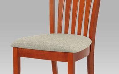 Jídelní židle BE816-sed TR2 - třešeň/potah šedý