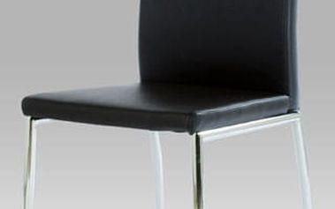 Jídelní židle B827 chrom / koženka černá