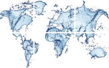 Obraz sada 6ks, motiv: mapa světa