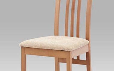Jídelní židle BC-2482 BUK3 - buk/potah krémový