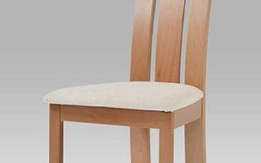 Jídelní židle BC-3931 BUK3 - buk/potah krémový
