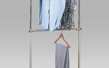 Stojan na šaty 83836-21 - chrom/plast stříbrný