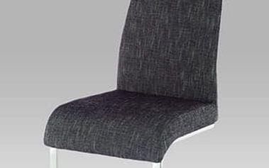 Jídelní židle AC-1817 chrom / látka šedo-stříbrná
