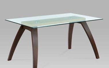 Jídelní stůl BT-6802 BWAL 150x90 cm - buk/sklo