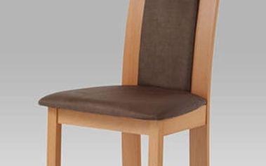 Jídelní židle BC-3921 barva buk, potah hnědý