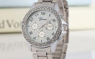 Dámské zdobené hodinky v luxusním provedení - 3 barevné varianty
