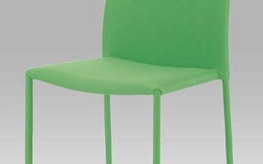 Jídelní židle WE-5015 stohovatelná, látka zelená