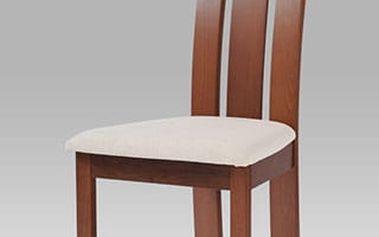 Jídelní židle BC-3931 TR3 - třešeň/potah krémový