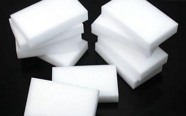 Praktický pomocník: melaminová Nano čistící houba - 10 ks