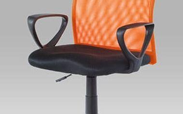 Kancelářská židle KA-BERT ORA - látka MESH černá/látka MESH oranžová