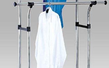 Stojan na šaty 83839-11 - chrom/plast černý
