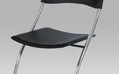 Jídelní židle B161 BK - chrom/plast černý