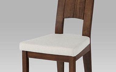 Jídelní židle ARC-5601 WAL - ořech/potah krémový