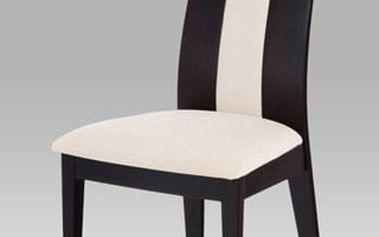 Jídelní židle BC-33905 BK - wenge/potah krémový